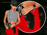 Rihanna heads to her favorite restaurant Giorgio Baldi in Santa Monica showing midriff and carrying a cool gun purse Oct 12, 2014  /X17online.com