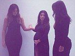 Kourtney Kardashian Instagram with Khloe and Kim