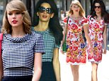 June 20, 2014:  Taylor Swift wears a pretty floral dress today in New York City...Mandatory Credit: Dara Kushner/INFphoto.com      Ref.: infusny-05/42 sp 