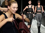 NEW YORK, NY - OCTOBER 16:  Model Joan Smalls walks the runway at the Alexander Wang X H&M Launch on October 16, 2014 in New York City.  (Photo by Randy Brooke/Getty Images for H&M)