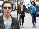 British singer Paul McCartney with his wife Nancy Shevell are walking together on Madison Avenue in New York, NY on October 15, 2014.\nPhoto by Charles Guerin/ABACAUSA.COM