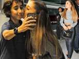 New superstar Ariana Grande leaving Paris airport oct 16, 2014 X17online.com