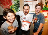 Ryan Kwanten for McHappy Day. Picture: Attila Szilvasi.