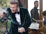 David Beckham and clapperboard on set of the HAIG CLUB advert. \n TRICTLY EMBARGOED: FOR PRINT @ Friday 17th October 2014, 00:01 /  FOR ONLINE @ Friday 17th October 2014, 09:00