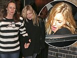 Kate Moss stumbles out of Chiltern Firehouse at 4am after a heavy night of partying. A friend was on hand to guide her to her car.   Pictured: Kate Moss Ref: SPL867498  161014   Picture by: MLEN / Splash News  Splash News and Pictures Los Angeles: 310-821-2666 New York: 212-619-2666 London: 870-934-2666 photodesk@splashnews.com
