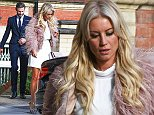 Picture Shows: Eddie Boxshall, Denise Van Outen  October 11, 2014\n \n Denise Van Outen is spotted on her way to the 'Strictly Come Dancing' live show at Elstree Studios in London with boyfriend Eddie Boxhall.\n \n Denise looked glamorous in her white mini dress which she paired with a feathered pink jacket and silver platforms while Eddie looked extremely dapper in a navy suit.\n \n Exclusive All Round\n WORLDWIDE RIGHTS\n Pictures by : FameFlynet UK    2014\n Tel : +44 (0)20 3551 5049\n Email : info@fameflynet.uk.com
