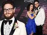 Lauren Miller, left, and Seth Rogen arrive at the Hilarity For Charity 3rd Annual Los Angeles Variety Show on Friday, Oct. 17, 2014, in Los Angeles. (Photo by Richard Shotwell/Invision/AP)