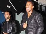Anthony Joshua (right) was spotted at London nightclub Boujis on Sunday night