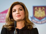 West Ham United Vice Chairman Karren Brady listens to a question during a press conference to announce the new deal between Newham council and West Ham United football club in London, England.  The stadium built for the London 2012 Olympic summer games has had its future secured in a deal where the English Premier League team West Ham United will have a 99 year lease to use the stadium starting in 2016.   AFP PHOTO/LEON NEAL         (Photo credit should read LEON NEAL/AFP/Getty Images)