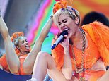 SYDNEY, AUSTRALIA - OCTOBER 17:  Miley Cyrus performs her Bangerz Tour live at Allphones Arena on October 17, 2014 in Sydney, Australia.  (Photo by Don Arnold/WireImage)