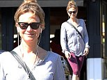 October 16, 2014\n \n Actress Renee Zellweger leaving the gym in Brentwood, California. Renee must've had a really good workout, that or she's just listening to something really funny on her headphones as she can hardly contain her laughter.\n \n Exclusive - All Round\n UK RIGHTS ONLY \n Pictures by : FameFlynet UK © 2014\n Tel : +44 (0)20 3551 5049\n Email : info@fameflynet.uk.com