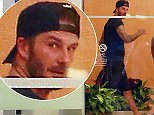 16.OCTOBER.2014 - BEVERLY HILLS - USA *** EXCLUSIVE ALL ROUND PICTURES AVAILABLE FOR UK ONLY *** DAVID BECKHAM SEEN HEADING TO A SOULCYCLE CLASS IN BEVERLY HILLS, CALIFORNIA. BYLINE MUST READ : XPOSUREPHOTOS.COM ***UK CLIENTS - PICTURES CONTAINING CHILDREN PLEASE PIXELATE FACE PRIOR TO PUBLICATION *** CLIENTS MUST CALL PRIOR TO TV OR ONLINE USAGE PLEASE TELEPHONE 020 8344 2007