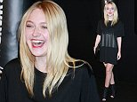 Mandatory Credit: Photo by Erik Pendzich/Rex (4204874a)  Dakota Fanning  Alexander Wang and H&M fashion show, New York, America - 16 Oct 2014
