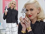 ST PETERSBURG, FL - OCTOBER 16:  Multi-platinum singer, songwriter and fashion entrepreneur Gwen Stefani poses with a bottle from her brand new Harajuku Lovers ELECTRIC POP Collection of fragrances in the HSN studios during its worldwide launch on October 16, 2014 in St. Petersburg, Florida.  A reinvention of her wildly popular Harajuku Lovers line, the ELECTRIC POP collection is available exclusively via HSN TV, hsn.com and HSN Mobile.  (Photo by Tim Boyles/Getty Images for HSN)