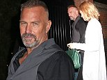 Picture Shows: Kevin Costner, Christine Baumgartner  October 16, 2014    Celebrities seen arriving at popular restaurant and nightclub The Chiltern Firehouse in London, UK.     Non Exclusive  WORLDWIDE RIGHTS     Pictures by : FameFlynet UK    2014  Tel : +44 (0)20 3551 5049  Email : info@fameflynet.uk.com