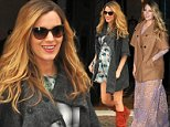 10/18/14 New York City - Mother-to-be, Blake Lively leaves her hotel in red boots and a gray wooly coat on Saturday October 18th, 2014. Non Exclusive / Splash News\n\nPictured: Blake Lively\nRef: SPL867535  181014  \nPicture by: Splash News\n\nSplash News and Pictures\nLos Angeles: 310-821-2666\nNew York: 212-619-2666\nLondon: 870-934-2666\nphotodesk@splashnews.com\n