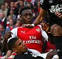 Danny Welbeck of Arsenal scores a goal to make the score 2-2