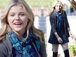 """UK CLIENTS MUST CREDIT: AKM-GSI ONLY\nEXCLUSIVE: Atlanta, GA - Chloe Moretz, Zach Arthur, and Gabriela Lopez film a scene for their upcoming movie """"The 5th Wave"""" in Atlanta, Georgia.  Actress Chloe Moretz is slated to play Cassie in the film adaption of Rick Yancey's book.\n\nPictured: Chloe Moretz\nRef: SPL869158  181014   EXCLUSIVE\nPicture by: AKM-GSI"""
