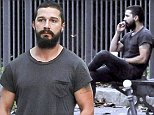 October 17, 2014: Shia LaBeouf is seen in Paris, France today. The young actor was seen enjoying a Starbuck coffee and a cigarette.\nMandatory Credit:  INFphoto.com Ref.: inffr-01/189016|sp|CODE002