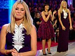 ****Ruckas Videograbs****  (01322) 861777\n*IMPORTANT* Please credit BBC for this picture.\n18/10/14\nStrictly Come Dancing\nGrabs from tonights show\nOffice  (UK)  : 01322 861777\nMobile (UK)  : 07742 164 106\n**IMPORTANT - PLEASE READ** The video grabs supplied by Ruckas Pictures always remain the copyright of the programme makers, we provide a service to purely capture and supply the images to the client, securing the copyright of the images will always remain the responsibility of the publisher at all times.\nStandard terms, conditions & minimum fees apply to our videograbs unless varied by agreement prior to publication.