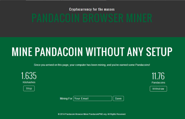 Browser Miner Screenshot