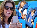 Cindy Crawford and her daughter Kaia Jordan enjoy a day at Disneyland with friends. Cindy and her daughter were seen enjoying California Screaming, Autopia, and other rides before sitting down and  induldging in a Candy Apple\n\nPictured: Cindy Crawford and Kaia Jordan\nRef: SPL869221  191014  \nPicture by: Fern / Splash News\n\nSplash News and Pictures\nLos Angeles: 310-821-2666\nNew York: 212-619-2666\nLondon: 870-934-2666\nphotodesk@splashnews.com\n
