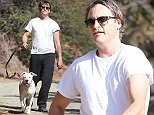 Picture Shows: Joaquin Phoenix  October 18, 2014    'Her' actor Joaquin Phoenix out for a hike with his dog and a friend in Beverly Hills, California. Rumor has it that Joaquin is still up for the part of Sorcerer Supreme in 'Doctor Strange' and was in negotiations with Marvel over the summer.    Non-Exclusive  UK RIGHTS ONLY    Pictures by : FameFlynet UK    2014  Tel : +44 (0)20 3551 5049  Email : info@fameflynet.uk.com