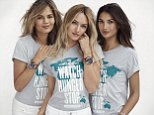 """These supermodels have teamed up to beat hunger. Chrissy Teigen, Lily Aldridge and Candice Swanepoel pose in special T-shirts created by fashion designer Michael Kors for the brand's Watch Hunger Stop campaign. The shirts are being given away to customers at participating Michael Kors stores from October 16 until the end of the month while supplies last. The trio also show off limited-edition unisex watches created to highlight the hunger issue. World Food Day takes place on October 16. \nWatch Hunger Stop, established in 2013, works to raise funds and awareness to achieve a world with zero hunger. The brand's partner in the effort is the United Nations World Food Programme (WFP), and funds go to WFP's school meals program. """"Watch Hunger Stop continues to be a huge initiative for the Michael Kors brand, and we are continually looking for new ways to engage our customer,"""" says Lisa Pomerantz, Senior VP of Global Communications and Marketing.\n\nPictured: Chrissy Teigen, Candice Swane"""