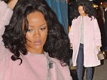 Rihanna steps out in a big pink coat, jeans and Timberland boots on a cold evening for dinner at Nobu in Tribeca.\n\nPictured: Rihanna\nRef: SPL868632  191014  \nPicture by: We Dem Boyz / Splash News\n\nSplash News and Pictures\nLos Angeles: 310-821-2666\nNew York: 212-619-2666\nLondon: 870-934-2666\nphotodesk@splashnews.com\n