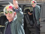 Keith Richards of the Rolling Stones arrives at Adelaide Studios for rehearsal