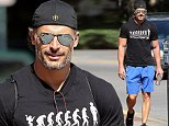 Picture Shows: Joe Manganiello  October 19, 2014    'Magic Mike XXL' actors Joe Manganiello and Kevin Nash take a day off from filming and walk to the gym in Savannah, Georgia.    Exclusive All Rounder  UK RIGHTS ONLY  Pictures by : FameFlynet UK    2014  Tel : +44 (0)20 3551 5049  Email : info@fameflynet.uk.com