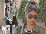 127857, EXCLUSIVE: Sarah Hyland takes her dog to the groomers in Los Angeles. She was seen putting money in her parking meter and walking with her dog. Los Angeles, California - Saturday October 18, 2014. Photograph: Sam Sharma/JS, © PacificCoastNews. Los Angeles Office: +1 310.822.0419 sales@pacificcoastnews.com FEE MUST BE AGREED PRIOR TO USAGE