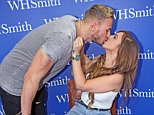 Holly Hagan (geordie shore) brings her new boyfriend Kyle Christie to her book signing 'Not Quite A Geordie' in WHSmith, Chester on Sunday 19 October 2014
