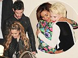 19.OCTOBER.2014 - LONDON  - UK CHERYL FERNANDEZ VERSINI (CHERYL COLE) WITH HER HUSBAND JEAN-BERNARD FERNANDEZ-VERSINI AND HER TWO CONTESTANTS THAT WERE VOTED OUT PICTURED LEAVING THE X FACTOR STUDIOS  BYLINE MUST READ : XPOSUREPHOTOS.COM ***UK CLIENTS - PICTURES CONTAINING CHILDREN PLEASE PIXELATE FACE PRIOR TO PUBLICATION *** **UK CLIENTS MUST CALL PRIOR TO TV OR ONLINE USAGE PLEASE TELEPHONE   44 208 344 2007 **