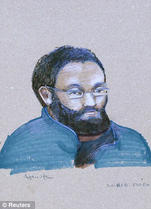 Court appearance: An artist's sketch shows Chiheb Esseghaier, left, and Raed Jaser, right, at their first court appearance today