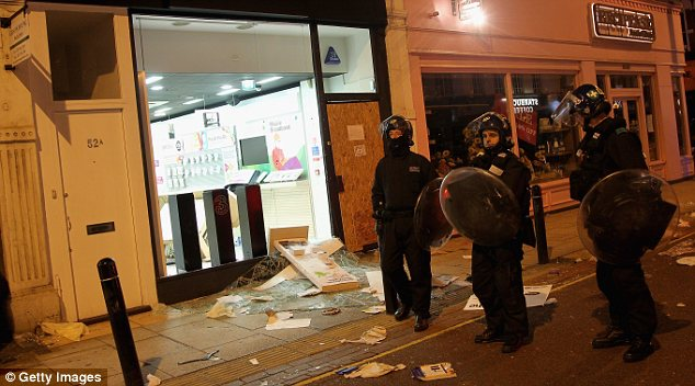 Riot police: But many readers have criticised officials' lack of decisive action
