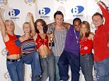 SHOWBIZ Record S Club 7...Pop group S Club 7, celebrate after winning the Britannia Record of the Year 2001, for their single, 'Don't Stop Movin' at the London Television Centre, Saturday December 8, 2001.  See PA story SHOWBIZ Record.  PA photo: Yui Mok...A...London...UK