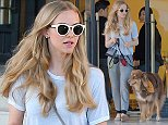 Beverly Hills, CA - Amanda Seyfried and her dog Finn get some shopping done at Barney's New York in Beverly Hills. Amanda and Finn had a casual day together, dressed in sweat pants and flip flops, Amanda and her dog headed back to their car after picking up a little something from the trendy store in Beverly Hills. AKM-GSI        October  21, 2014  To License These Photos, Please Contact : Steve Ginsburg (310) 505-8447 (323) 423-9397 steve@akmgsi.com sales@akmgsi.com or Maria Buda (917) 242-1505 mbuda@akmgsi.com ginsburgspalyinc@gmail.com