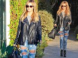 West Hollywood, CA - Ashley Tisdale looks rocker chic for a beauty salon visit to Andy LeCompte Salon in West Hollywood. Ashley got camera shy as she returned to her car after four hours in the popular salon and covered her face as she walked by the cameras. AKM-GSI     October  21, 2014 To License These Photos, Please Contact : Steve Ginsburg (310) 505-8447 (323) 423-9397 steve@akmgsi.com sales@akmgsi.com or Maria Buda (917) 242-1505 mbuda@akmgsi.com ginsburgspalyinc@gmail.com