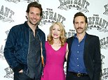 """NEW YORK, NY - OCTOBER 21:  Bradley Cooper , Patricia Clarkson and Alessandro Nivola attend the """"The Elephant Man"""" Press Reception at Sardi's on October 21, 2014 in New York City.  (Photo by John Lamparski/WireImage)"""