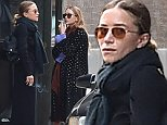 EXCLUSIVE: Mary-Kate Olsen and Ashley Olsen take a smoke break in NYC.\n\nPictured: Ashley Olsen and Mary-Kate Olsen\nRef: SPL869934  211014   EXCLUSIVE\nPicture by: Splash News\n\nSplash News and Pictures\nLos Angeles:\t310-821-2666\nNew York:\t212-619-2666\nLondon:\t870-934-2666\nphotodesk@splashnews.com\n