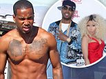 127907, EXCLUSIVE: SINGLE NICKI?? Nicki Minaj's rumored ex boyfriend Safaree Samuels appears to have had 2 of his 3 Nicki tattoos covered up. Safaree, who formerly had a tattoo of Nicki's face and her name on his chest as well as one of her face on his arm that appears to have faded, went shirtless as he filmed for what appeared to be a music video in Lancaster. The private rap couple have been rumored to have been broken up since Nicki Tweeted in May 'SINGLE N READY TO MINGLE'. Neither Nicki or Safaree have commented on the breakup. Lancaster, California -  Sunday October 19, 2014. Photograph: ©RA, PacificCoastNews. Los Angeles Office: +1 310.822.0419 sales@pacificcoastnews.com FEE MUST BE AGREED PRIOR TO USAGE