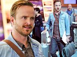 """UK CLIENTS MUST CREDIT: AKM-GSI ONLY\nEXCLUSIVE: Aaron Paul arrives in Vancouver, CA to start his work on a feature called """"The 9th Life of Louis Drax"""" which will co-star Jamie Dornan from """"50 Shades of Grey"""".\n\nPictured: Aaron Paul\nRef: SPL870757  201014   EXCLUSIVE\nPicture by: AKM-GSI / Splash News\n\n"""