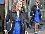 22 October 2014. Charlotte Hawkins  outside the London Studios Credit: Andy Oliver/GoffPhotos.com   Ref: KGC-143