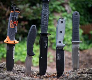 a few survival knives