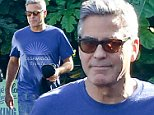 Malibu, CA - George Clooney visited his friend and business partner Rande Gerber at Cafe Habana this afternoon, we also noticed that the newlywed wore the same clothes from yesterday, when we spotted Clooney visiting his Chiropractor.\nAKM-GSI        October 22, 2014\nTo License These Photos, Please Contact :\nSteve Ginsburg\n(310) 505-8447\n(323) 423-9397\nsteve@akmgsi.com\nsales@akmgsi.com\nor\nMaria Buda\n(917) 242-1505\nmbuda@akmgsi.com\nginsburgspalyinc@gmail.com