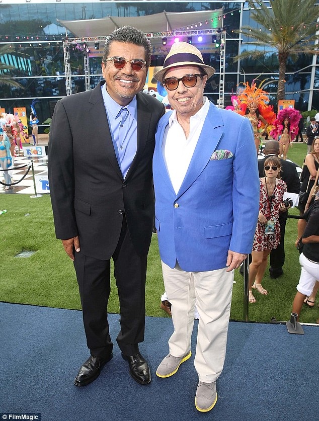 Latin legends! George Lopez and Sergio Mendes dressed to impress in their own individual ways while attending the Rio 2 premiere