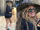 West Hollywood, CA - Latin singer Paulina Rubio is all smiles while leaving Mr. Bones Pumpkin Patch in West Hollywood.  The blonde bombshell showed off her legs in short black short, Nike sneakers, and accessorized with an animal print hat.\nAKM-GSI       October 22, 2014\nTo License These Photos, Please Contact :\nSteve Ginsburg\n(310) 505-8447\n(323) 423-9397\nsteve@akmgsi.com\nsales@akmgsi.com\nor\nMaria Buda\n(917) 242-1505\nmbuda@akmgsi.com\nginsburgspalyinc@gmail.com