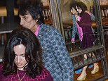 Ronnie Wood and his wife Sally Humphreys leave the new, uber cool Orana Restaurant in the popular Adelaide eating strip Rundle Street after dining with friends.