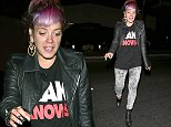 """Please contact X17 before any use of these exclusive photos - x17@x17agency.com   Lily Allen gets some help from her friends walking in heels after partying hard at Bootsy Bellows in Hollywood, CA. Allen gets frustrated as she waits outside the club, complaining, """"We haven't got a car! Uber, it's a f*ckin joke!"""" October 21, 2014 X17online.com EXCLUSIVE"""